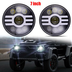 2pcs 150w 15000lm 7and039and039 Inch Led Headlight Hi-lo Beam Projector For Yamaha Models