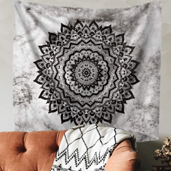 Indusleaf Psychedelic Mandala Tapestry Wall Hanging Bohemian Living Room Wall