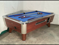 6 1/2and039 Valley Commercial Coin-op Pool Table Model Zd-4 New Blue Cloth