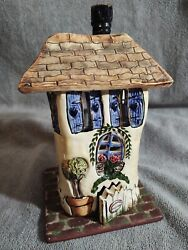 Retired Blue Sky Clayworks Welcome Home Heather Goldminc House Tealight Cozy