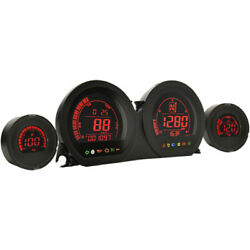 Koso Hd-03 Four-piece Guage Kit For And03914-and03919 Touring Models Black/red Ba064900