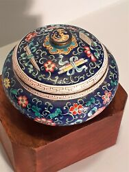 Chinese 19th Century Cloisonne Bowl And Cover     Ref A 19