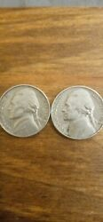 Two 1964 D. Nickels.