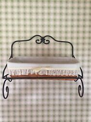 Longaberger Wall Shelf Rack And Basket With Liner And Insert