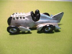 Antique Hubley Futuristic Space Ship Type Cast Iron Race Car With A Black Driver