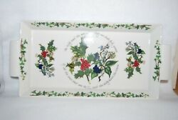 Portmeirion The Holly And The Ivy Oven To Table Handled Serving Tray Britain