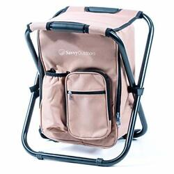 Ultralight Backpack Cooler Chair Compact Lightweight and Portable Folding Stoo $66.85