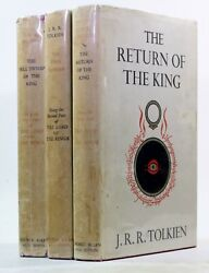 Old Vintage Lord Of The Rings Lotr J R R Tolkien First Edition 14th, 11th, 11th