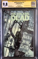 The Walking Dead Deluxe 8 Tedesco Varian Cover Cgc 9.8 Signed By Charlie Adlard