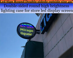 Led Sign P6 Round Double-sidede Outside Size 34.6