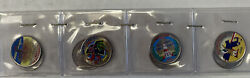 8 Painted State Quarters 1999-2000 As