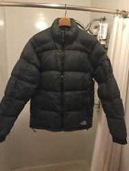 North Face Mens Puffer Jacket Size Large Down Coat Charcoal Gray $70.00