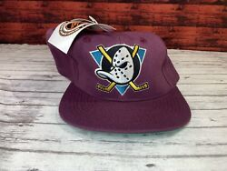 Mighty Ducks Of Anaheim Snapback Hat Cap Nhl New With Tags Vintage
