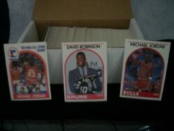 1989 90 HOOPS BASKETBALL SET 1 300MICHAEL JORDANDAVID ROBINSON Rookie $9.99