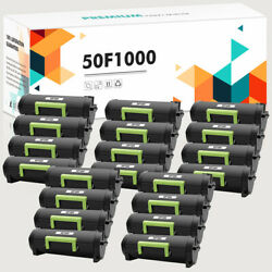 20pk 50f1000 Toner Compatible For Lexmark Ms410 Ms310d Ms315dn Mx310dn Ms610dte