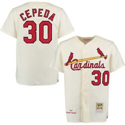 St Louis Cardinals Orlando Cepeda Mitchell And Ness 1967 Cream Authentic Jersey