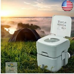 5.3 Gallon 20l Outdoor Portable Toilet With Level Indicator For Rv Travel