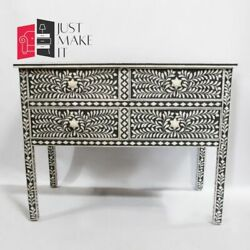 Bone Inlay Sideboard Black And White Floral S Made To Order