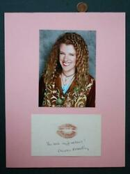 Dharma And Greg Tv Star Mimi Kennedy Autographed Card And Photo Set And Lipstick Kiss