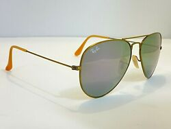 New Ray-ban Rb 3025 167/4k Brushed Bronze Flash Lilac 58mm Aviator Sunglasses