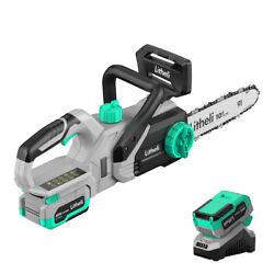 Litheli 20v Cordless 10 Chainsaw With 4.0ah Batteryandcharger Included Farm Yard