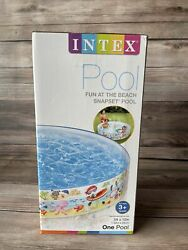 Intex Childrens Inflatable Pool 5and039x10 Kids Swimming Pools Outdoor Water Play