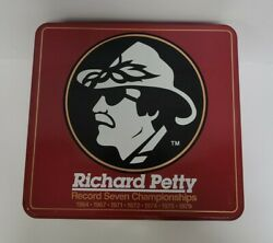 Nascar Winston Cup Series Collectors Tin Richard Petty - Condition Used Good
