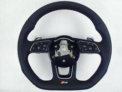 The Steering Wheel For Audi Rs Rs3 A4 A5 S3 S4 S5 Flat Bottom Steering Wheels