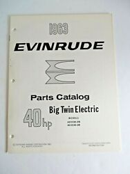 1963 Evinrude Outboards 40 Hp Big Twin Electric 40352 40353 Parts Catalog 14054