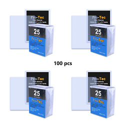 100 Pack Pro-tec Toploaders Top Loader Card Sleeve For Sports/trading - 3x4
