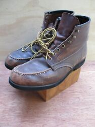 Mason Chippewa Falls Vintage Brown Leather Rubber Sole Boots 8.5 9