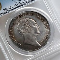 Pcgs Ms 63+ 1809 Thaler German States Bavaria Crown Silver Coin Toned