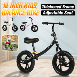 12and039and039 Kid Balance Training Bike Walker Learn Ride Push Bicycle Adjustable Gift