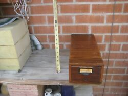 1940s Vintage 3 X 5 Card Dove Tail Large Size Wood Recipe File Index Box Usa