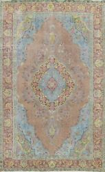 Antique Floral Traditional Tebriz Area Rug Hand-knotted Wool Oriental 6x9 Carpet