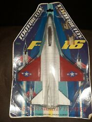 Vintage Tootsietoy Diecast And Plastic F16 Fighter Jet 6 3/4 Airplane Toy