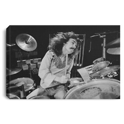 Drummer Neil Peart Performs Live On Stage England 12 Feb 1978 Canvas Print Art