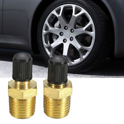 2pcs For Car Suv 1/8 Npt Mpt Solid Brass Air Compressor Tank Fill Valve Durable