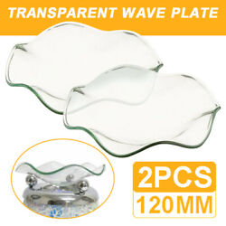 2pcs Replacement Glass Oil Burner Wax Melt Dish Bowl 120mm For Home Fragrance