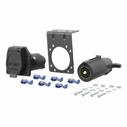 Curt 7-way Rv Blade Connector Plug And Socket With Hardware Packaged X 58152