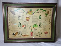 Vintage 1970 Three Mountaineers Herb Spice Cabinet Wall Rack Chart Diagram