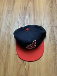 Rare Cleveland Indians New Era Pro Model Fitted Cap Hat Mlb New Vintage 7 1/4