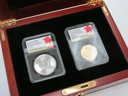 2019 Canada Incuse Maple Gold And Silver Set Ngc First Day Ms70 In Box
