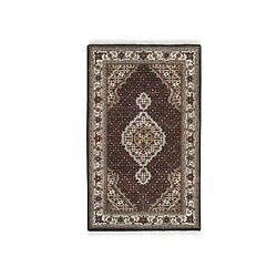3and0391x5and0393 Wool And Silk Fish Medallion Design Tebraz Mahi Handknotted Rug R62481