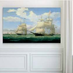 Ships At Sea Iii - Premium Gallery Wrapped Canvas Large