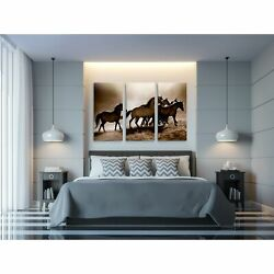 Wild Horses-a Premium Multi Piece Art Available In 3 Sizes Oversized
