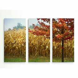 Harvest Red-a Premium Multi Piece Art Available In 3 Sizes Oversized