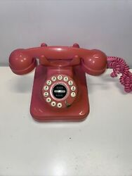 Pottery Barn Pink Phone Push Button Vintage Replica
