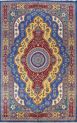 Vegetable Dye Bakhtiari Hand-knotted Area Rug Medallion Oriental Carpet 10and039x14and039