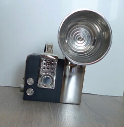Antique Camera Sculpture/figurine Painted Wood And Nickle